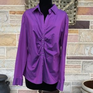 New York & Company Shirred Front Top